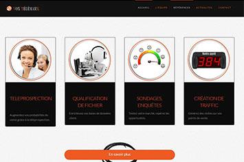 Site internet pour agence de téléprospection